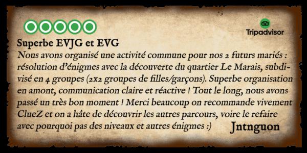 Avis - Détectives - EVG-EVJF 3