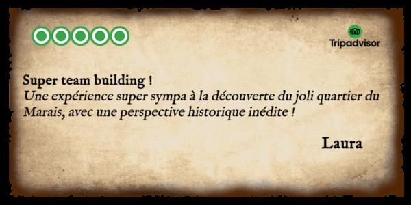 Avis - Détectives - Team Buildings 1